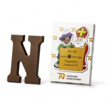 Chocolade letter in custom made doos - Premiumgids