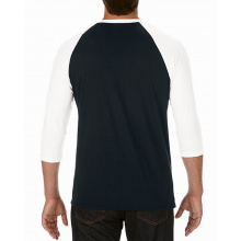 Anvil t-shirt triblend 3/4 raglan sleeve - Topgiving