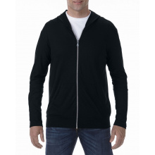 Anvil tri-blend full-zip hooded jacket for him - Premiumgids