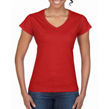 Gildan t-shirt v-neck softstyle ss for her - Topgiving