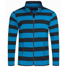 Stedman polar fleece cardigan striped for him - Topgiving