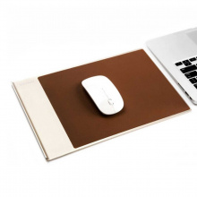 Aluminium with pu leather mouse pad - Topgiving