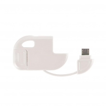 2 in 1 micro usb kabel wit - Premiumgids