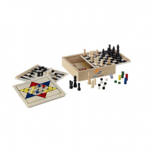 Woodgame 5-in-1 spel - Topgiving
