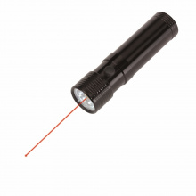 Metalen led zaklamp en laserpointer spot - Topgiving