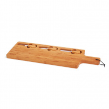 Senza bamboo tapas plate with knifes - Topgiving