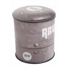 Multifunctional seat/storage barrel - raw design medium - Topgiving