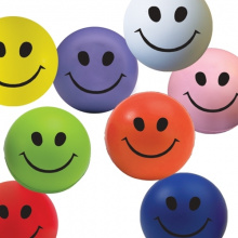 Smiley face stressbal - Topgiving