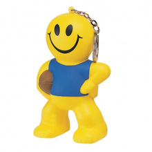 Anti-stress smiley rugby man sleutelhanger - Topgiving