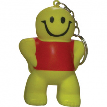 Anti-stress smiley man sleutelhanger - Topgiving