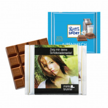 Chocolade 100 g, ritter sport promotional sleeve - Premiumgids