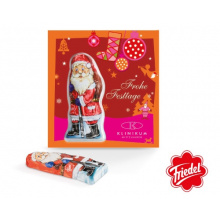 Premium-card chocolate santa claus - Topgiving