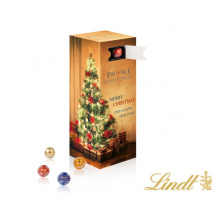 Tower adventskalender with mini chocolate balls lindt - Topgiving