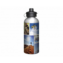 Aluminium 600ml silver drink bottle - Premiumgids
