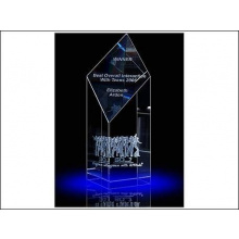 Laser in glas 15x6x6 cm Trophy - Topgiving