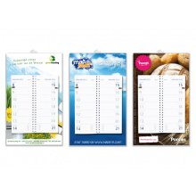 Week omleg kalender met full colour schild - Topgiving